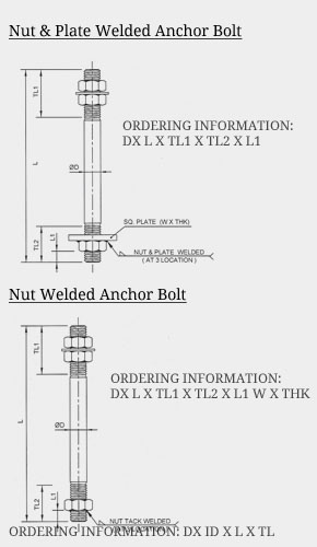 Stainless Steel Anchor Bolt Ss Anchor Bolts Dimensions