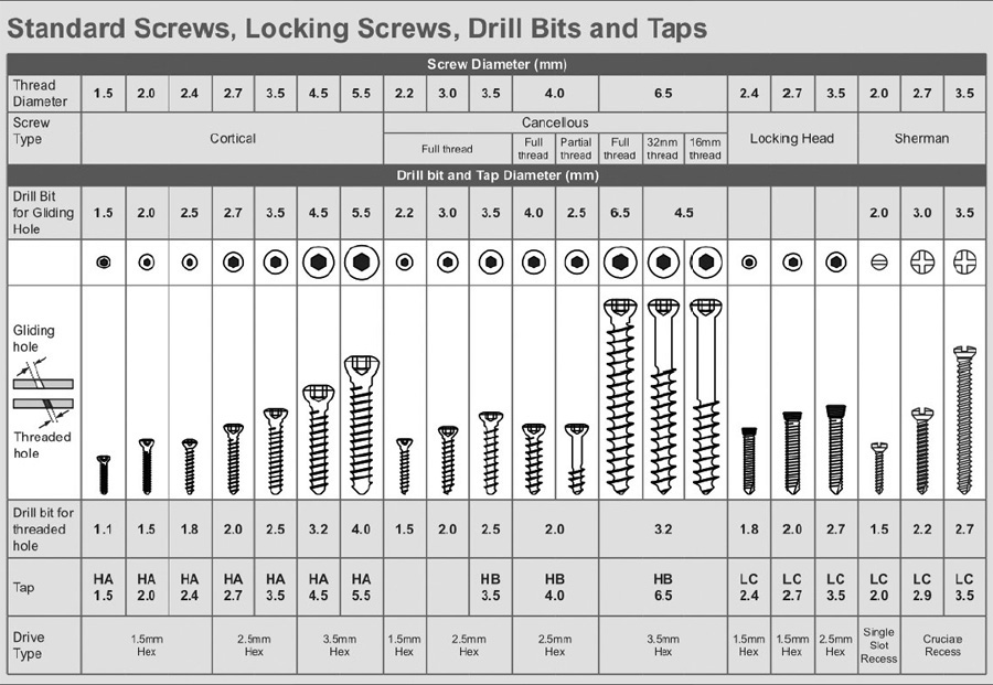 Screws sizes chart screws thread chart dimensions sizes