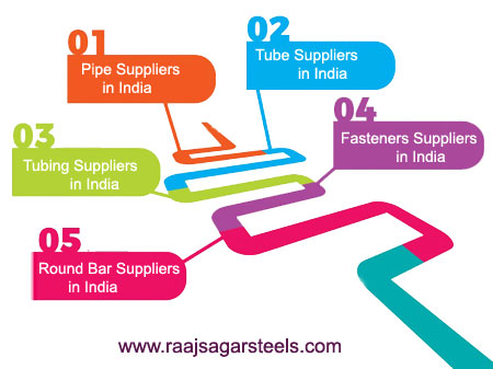 Pipe,Tube,Tubing,Fasteners,Round Bar Supplier in India